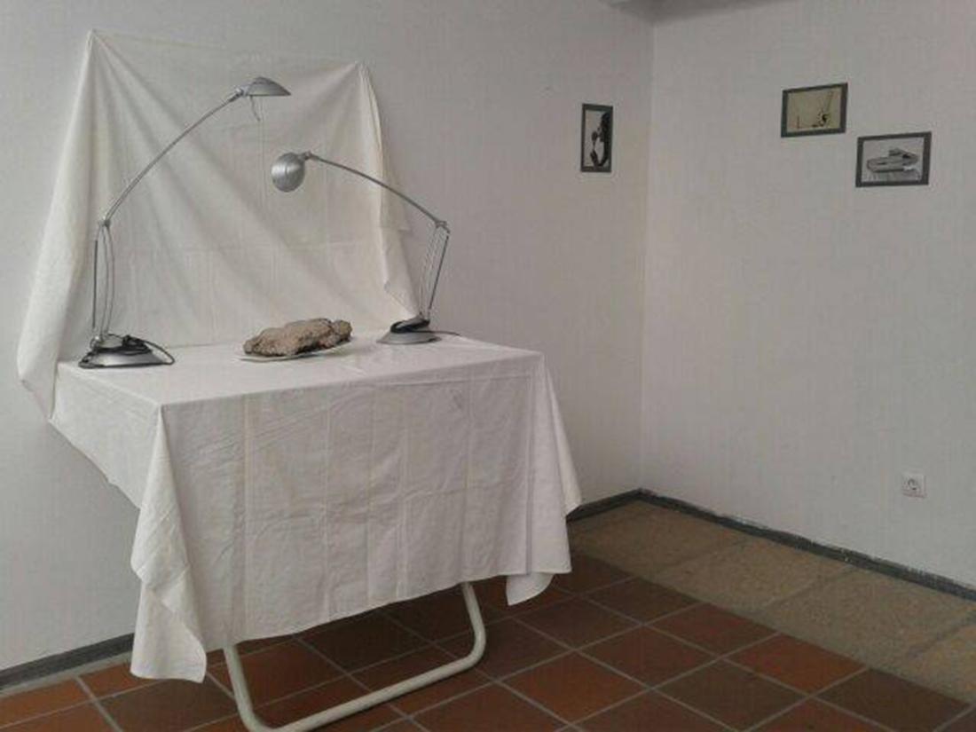Exposición. Zona de las fotografías de estudio.
