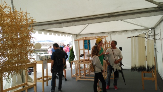 Carpa Arte y Territorio del Festival Arcu Atlánticu 2016.