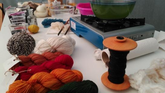 Malallana. Procesos de tinción de la lana.