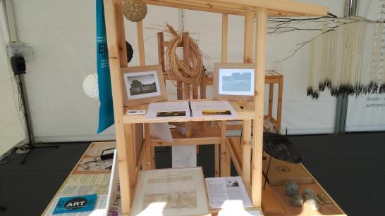 Instalaciones en la carpa Arte y Territorio